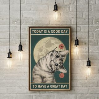 Today Is A Good Day to Have a Great Day Vintage 1,5 Framed Canvas  -Best Gift for Animal Lovers - Home Living- Wall Decor