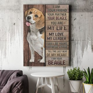 Beagle I Am Your Friend Your Partner Your Beagle Gallery  1,5 Framed Canvas - Best Gift for Pet Lovers -Wall Decor, Canvas Wall Art