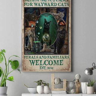 Salem Sanctuary For Wayward Cats 1,5 Framed Canvas  -Best Gift for Animal Lovers - Home Living- Wall Decor