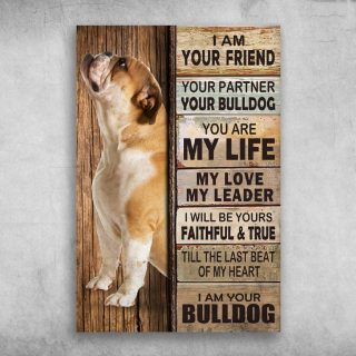 I Am Your FriendI Am Your Bulldog 1,5 In Framed Canvas - Best Gift for Pet Lovers - Home Living - Wall Decor