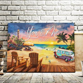 You And Me We Got This Beach Life - Couple  0.75 & 1.5 In Framed Canvas - Home Living -Wall Decor - Canvas Wall Art