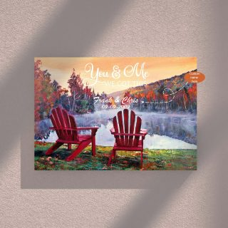 Personalized You and Me We Got This Lake View  0.75 & 1.5 In Framed Canvas - Couple Gift Ideas- Home Decor- Wall Decor, Canvas Wall Art