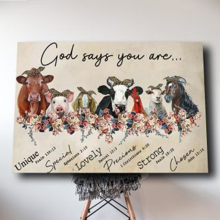 Farmer God Says You Are Canvas Prints 0.75 & 1.5 In Framed Canvas - Family Gifts Ideas -Wall Decor, Canvas Wall Art