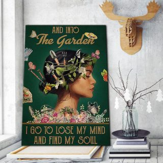 And Into The Garden I Go To Lose My Mind And Find My Soul 1,5 Framed Canvas - Home Decor- Canvas Wall Art