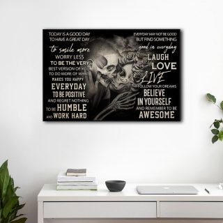Today Is A Good Day To Have A Great day Horizontal 1,5 Framed Canvas -Canvas For Family Gift For Friend- Home Living- Wall Decor