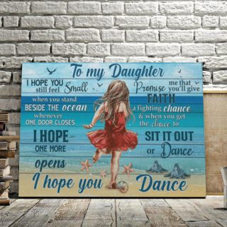 To My Daughter I Hope You Still Feel Small Ocean 0,75 and 1,5 Framed Canvas - Gifts Ideas- Home Decor- Canvas Wall Art