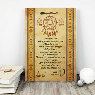 Dreamcatcher May The Sun Bring You New Energy By Day 0,75 and 1,5 Framed Canvas - Gifts Ideas- Home Decor- Canvas Wall Art