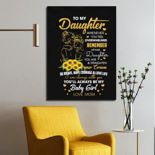 Sunflower To My Son You'll Always Be My Baby Boy Personalized 0.75 & 1.5 Frame Canvas- Gifts for Son From Mom- Birthday Gift,  Best Son Gift