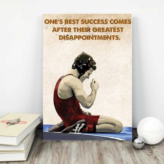 Boxing Man – One's Best Success Comes After Their Greatest Disappointments 0.75 & 1,5 Framed Canvas- Gift Ideas - Home Living- Wall Decor