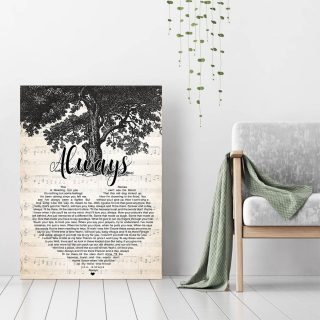 Always Lyris Song- This Romeo Is Bleeding, But You Can't See His Blood 0.75 & 1,5 Framed Canvas - Canvas Wall Art - Home Decor