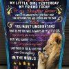 Lion To My Daughter, Fleece Blanket, Gift For Daughter, Lion Blanket, Dad And Daughter, Christmas Gift, Family Blanket