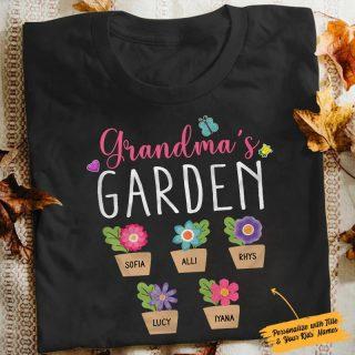Personalized Grandma's Garden Funny Shirt, Grandma Shirt, Gift For Grandma, Gardeners Shirt