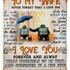 Personalized To My Wife Never Forget That I Love You Fleece Blanket, Wife And Husband Blanket, Family Blanket, Gift For Her, Home Living