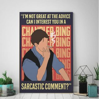 I'm Not Great At The Advice Can I Interest You In A Sarcastic Comment 0.75 & 1,5 In Framed Canvas - Home Living, Wall Decor, Canvas Wall Art