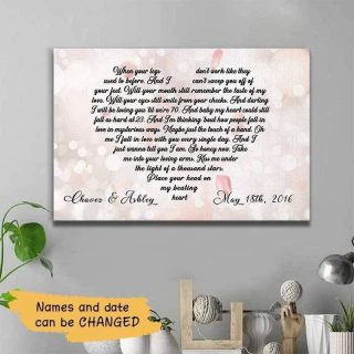 Personalized When Your Legs Don't Work Anniversary Canvas, Loving Quote Canvas, Gift For Couple, Wedding Engagement Dating Anniversary Gift