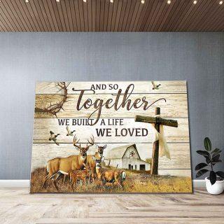 Deer Together We Built Canvas, Deer Canvas, Wall Art