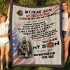 Firefighter My Dear Son I Always Carry You In My Heart Blanket, Fireman Blanket, Mom And Son, Family Gift