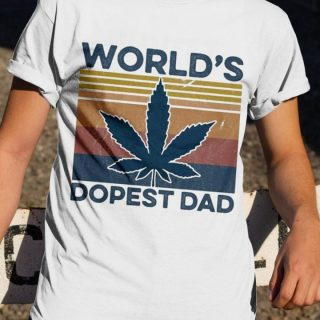 World's Dopest Dad Cannabis Vintage Shirt, Dopest Dad, Smoking Weed, Funny Shirt For Dad, Birthday Gift