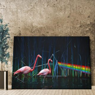 Flamingos Canvas, Flamingo Stunning Art Canvas, Animal Canvas, Vibrant Pink Flamingo Design, Home Decor
