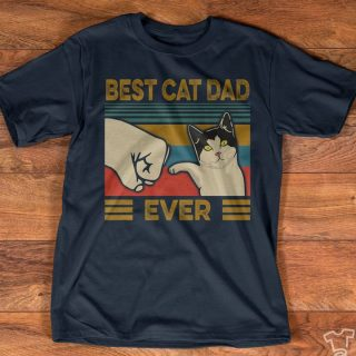 Best Cat Dad Ever Vintage T-shirt, Funny Cat Lovers Shirt, Cat Dad Shirt, Gift For Him, Gift For Cat Owners, Funny Pet Shirt