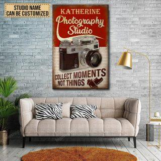 Personalized Photography Studio Canvas, Photographers Canvas, Camera Addict Canvas, Best Gift Idea, Home Decor, Studio Decor
