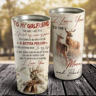 To My Girlfriend A Better Person Tumbler- Travel Mug - Couple Cup -Anniversary Gifts