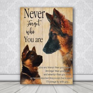 Old German Shepherd Dog Look Right Beside You And I'll Be There 1,5 In Framed Canvas  -Best Gift for Halloween -Wall Decor