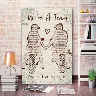 Personalized Motorcycles We're A Team 0.75 &1,5 Framed Canvas - Anniversary Gifts- Home Decor,Wall Art