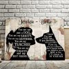 Personalized You Are Not Just A Dog You Are My Best Friend 0.75 & 1,5 Framed Canvas - Customized With Names- Home Living- Wall Decor
