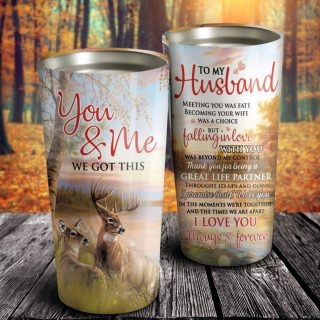 To My Husband Great Life Partner Tumbler - Gift For Husband - Husband And Wife - Family Gift