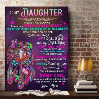 To My Daughter Believe In Yourself As Much As I Believe You- You Will Always Be My Baby Girl 0.75 &1,5 Framed Canvas - Home Decor, Wall Art