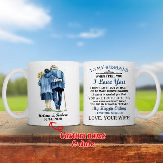 Personalized To My Husband You Are My Always and Forever Wedding Anniversary Mug - Customize Your Name And Date- Anniversary & Wedding Gifts