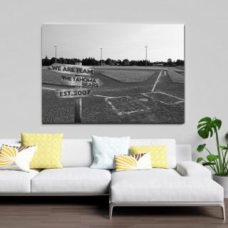 Personalized Baseball Team Canvas, Baseball School Team Canvas, Street Signs Customized With Names- 0.75 & 1.5 In Framed -wall Decor