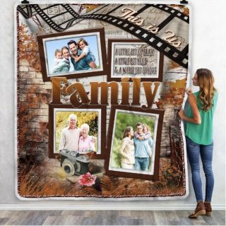 Personalized Family This Is Us Multi- Photos Blanket, Family Memories Blanket, Family Gift, Home & Living