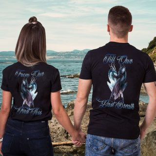 Dragon Couple From Our First Kiss Till Our Last Breath Shirt, Dragon Couple Shirt, Valentine's Day Gift