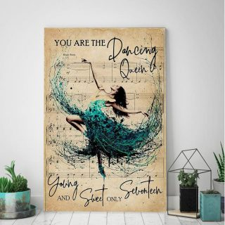 You Are The Dancing Queen Young And Sweet Only Seventeen 0.75 & 1,5 Framed Canvas- Native American Gifts -Canvas Wall Art -Home Decor