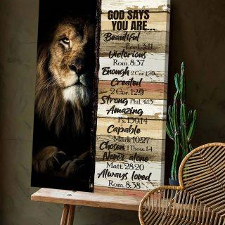 Lion God Says You Are Canvas, Wall Art Decor