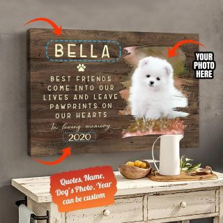 Awesome Family Gift For Pet Lovers - Best Friends Are Never Forgotten In Loving Memory Personalized Canvas Awesome Family Gift For Pet Love