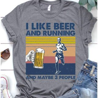 I Like Beer And Running And Maybe 3 People Vintage Shirt, Runner Shirt, Funny Beer Shirt