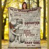 To My Daughter Never Feel That You're Alone Blanket, Dad And Daughter, Best Gift For Daughter, Home & Living