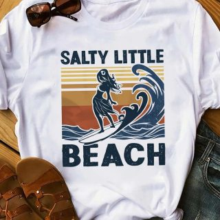 Funny Surfing Salty Little Beach Vintage Shirt, Surfing Beach Lover Shirt, Gift For Her, Birthday Gift Idea