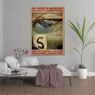 Pilot There Is Never Too Much Horsepower Vintage Canvas, Pilot Canvas, Gift For Him, Wall Art