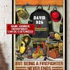 Personalized My Time Uniform Is Over But Being A Firefighter Never Ends Vintage Canvas, Gift Canvas, Wall Art