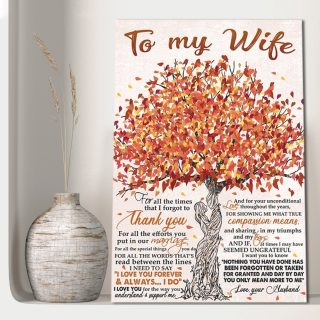 To My Wife I Need To Say I Love You Forever and Always 0.75 & 1,5 Framed Canvas - Gift Idea- Anniversary Gifts- Home Decor - Wall Art