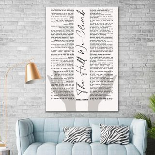 Amanda Gorman Full Poem Canvas, The Hill We Climb Canvas,  There Is Always Light, Inauguration Poem 2021, Inspirational Words- Wall Art