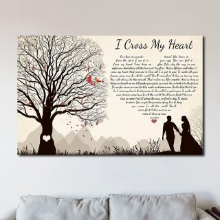 I Cross My Heart George Strait Pure Country – George Strait  0.75 and 1,5 Framed Canvas- Home Wall Decor