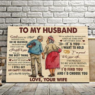 To My Husband I Am Proud To Be Your Friend Your Wife 0.75 & 1,5 Framed Canvas- Anniversary Gifts-- Home Decor- Canvas Wall Art