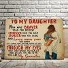 Father To My Daughter Autism Horizontal 0.75 & 1,5 Framed Canvas- Daughter and Father- Home Decor- Canvas Wall Art