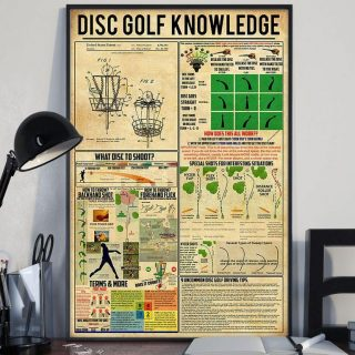 Disc Golf Knowledge Canvas, For Golf Lovers, Wall Art Deco