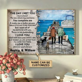 Personalized Pontoon The Day I Met You Canvas, Anniversary Gift, Valentine's Day Gift